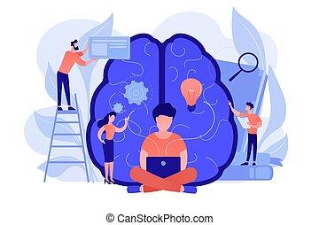 business, vecteur, concept, illustration., intelligence