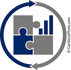business, vecteur, conception, gabarit, logo, collaboration