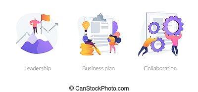 business, vecteur, développement, métaphores, concept