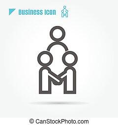 business, vecteur, fond, équipe, blanc, icône