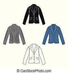 business, vecteur, icône, mobile, toile, veste, illustration