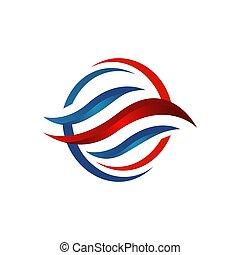 business, vecteur, refroidissement, compagnie, logo, conception, hvac, chauffage, résumé