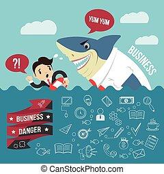 Business vector flat banner