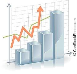 Business vector Graph