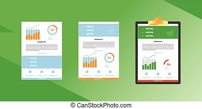 Business vector graphics and statistics.