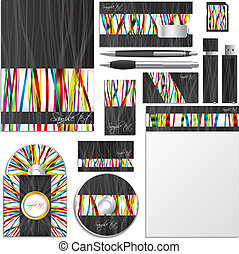 Business vector set with ribbons