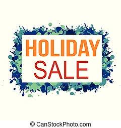 business, vente, étiquette, promotion, vacances, bannière, ou