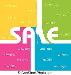 business, vente, étiquette, vecteur, fond, promotion, stockage