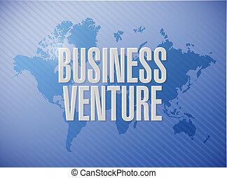 business venture world map sign concept