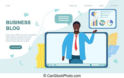 Business video blog concept