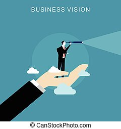 Business vision concept.