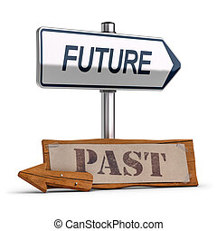 Business Vision, Future Versus Past Concept