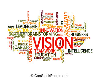 Business vision word cloud - business vision concept word...