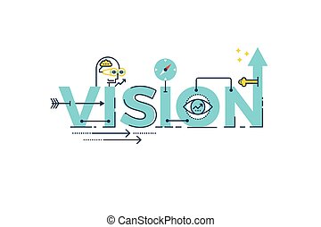 Vision word lettering - Business Vision word lettering...