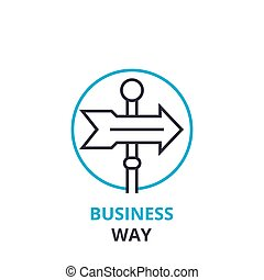Business way concept , outline icon, linear sign, thin line pictogram, logo, flat vector, illustration