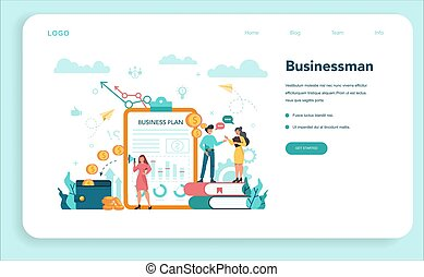 Business web banner or landing page. Idea of strategy
