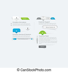 Business web site template design m