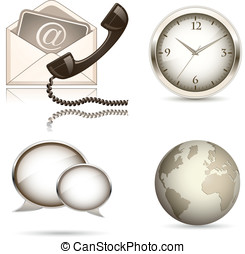 Business website icon set. Vector illustration. Finance...