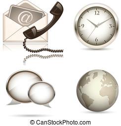 Business website icon set. Vector illustration. Finance...