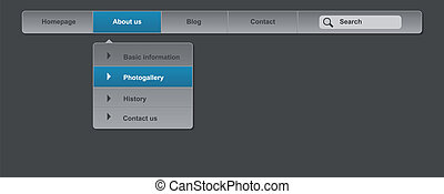 Business website menu