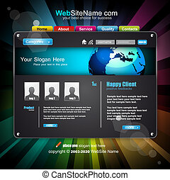 Business WebSite Template with Fututistic Technology Style