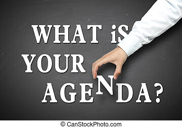 Business what is your agenda concept - What is your agenda...