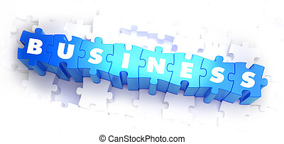 Business - White Word on Blue Puzzles. - Business - White ...