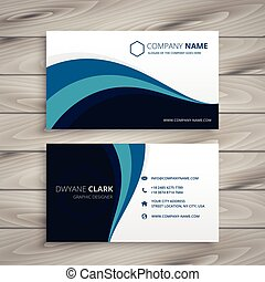 business with blue wave style template
