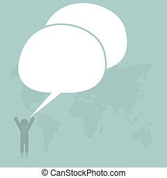 Business with bubble speech, Vector illustration for banner, web design, presentation.