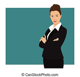 Business woman - A business woman wearing a suit with her...
