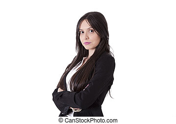 business woman arms crossed
