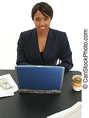 Business Woman Bills