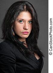 Business woman classic dark portrait