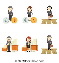 business woman confused set