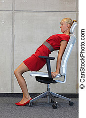 business woman exercising