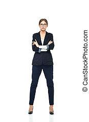 Business woman full length portrait