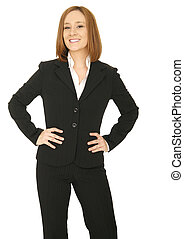 Business Woman Hand On Hip