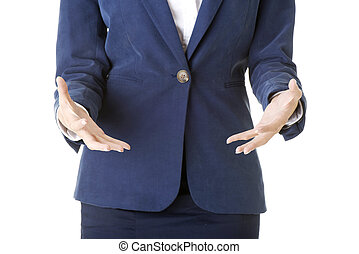 Business woman hands