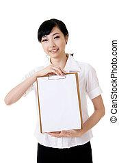 blank white board
