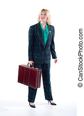 Business Woman Holding Briefcase