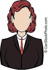 Business woman icon cartoon