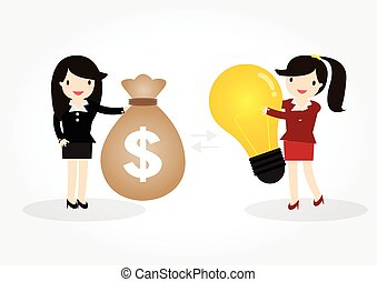 Business woman idea concept