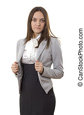 Business woman in a suit