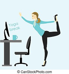 business woman in a yoga pose