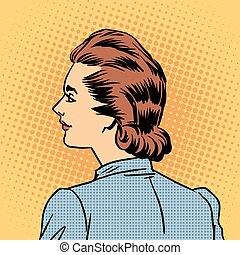 Business woman in profile