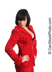Business woman in red