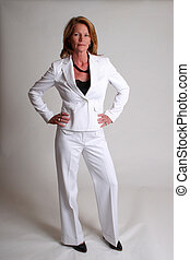 Business woman in white