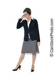 business woman isolated one