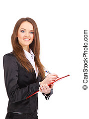 business woman. Isolated over white background