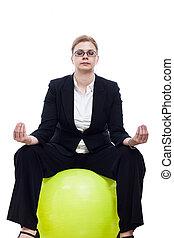Business woman meditation